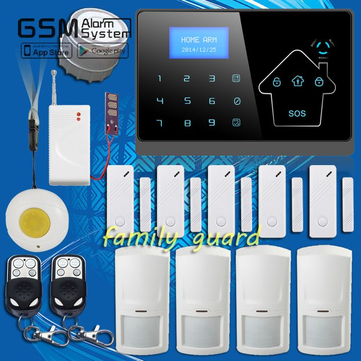 family Guard screen display 100 Wireless Water Leakage Sensor Panic Button GSM PSTN SMS Home Security Voice Burglar House Alarm