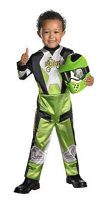 $19 Boys-Motorcycle-Racer-Costume-Race-Driver-Rider-Suit-Motocross-Toddler-Child-NEW