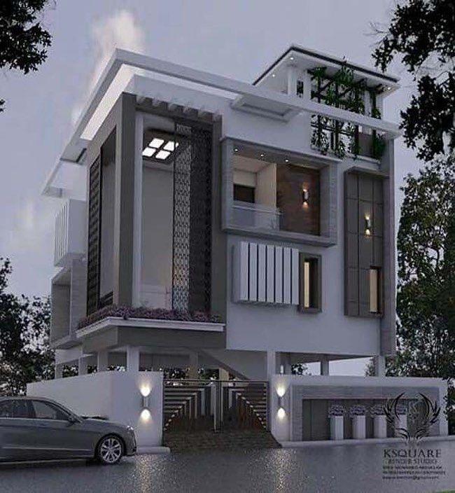 Home Facade On Instagram Luxury Homedecor Design Designer Instahome Instadesign Architect B Duplex House Design House Design Bungalow House Design