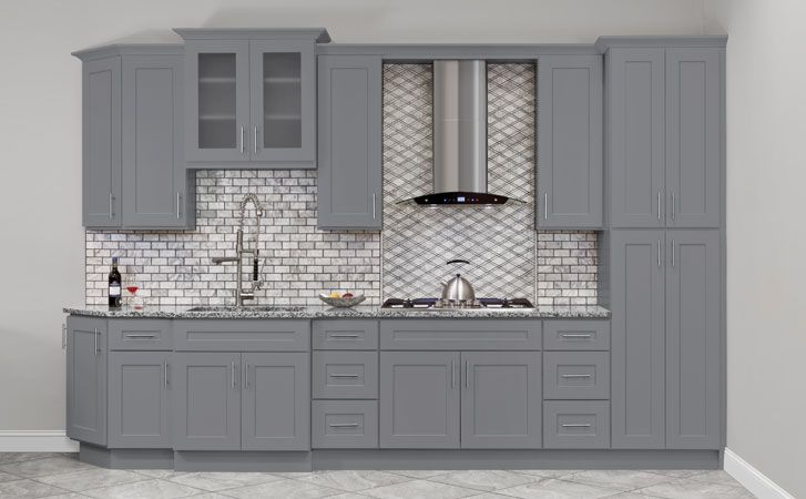 Colonial Gray Kitchen Cabinets 215 745 7900 New Collection In Stock Mode Kitchen Cabinet Door Styles Grey Kitchen Cabinets Assembled Kitchen Cabinets