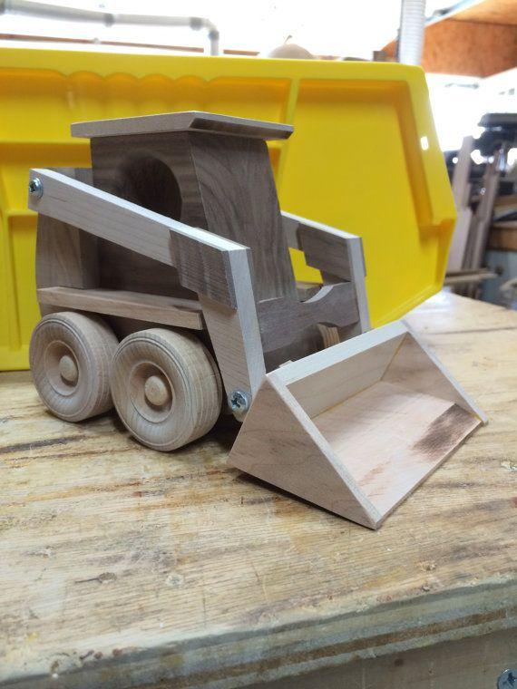 Juguete de madera artesanales Skidloader por KKRVenturesLLC en Etsy