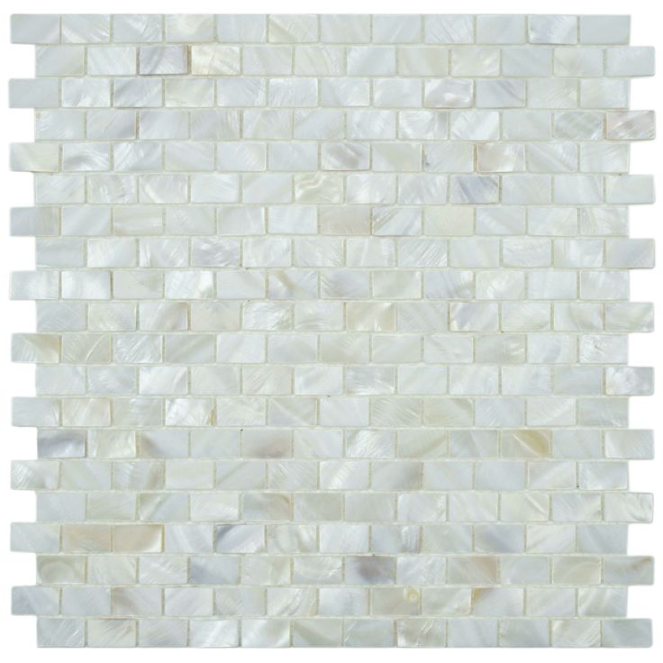 mother of pearl seashell glass mosaic white