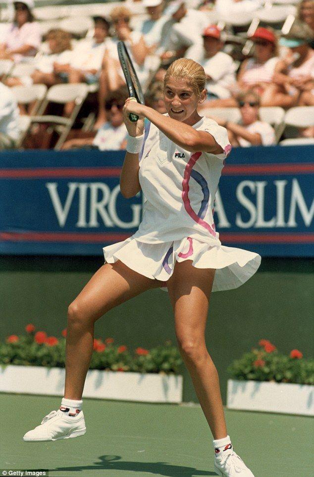 Monica Seles, circa 1990.