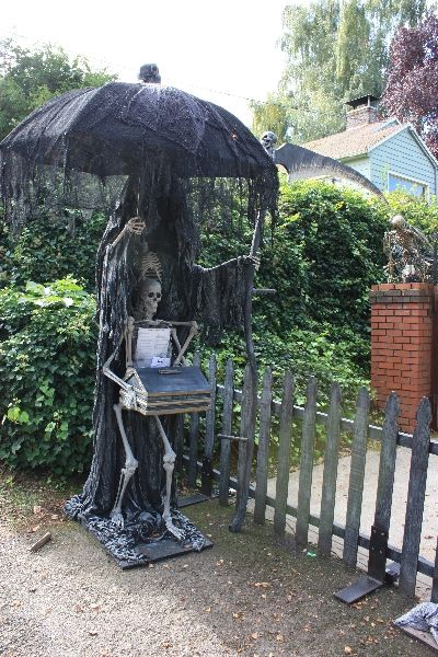 in case of a rainy halloweenline these along walkway - Outdoor Halloween Props