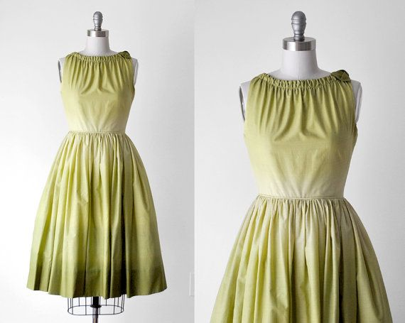 50's spring green ombre dress // by stickylipgloss