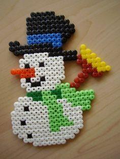 Sneeuwpop strijkkralen