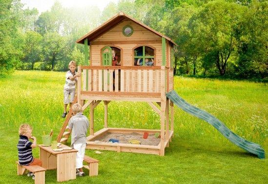 Maisonnette Cabane Enfant Bois MARC Axi  Profitez de notre prix exceptionnel de 1399€ sur lekingstore.com  Contactez nous au 01.43.75.15.90