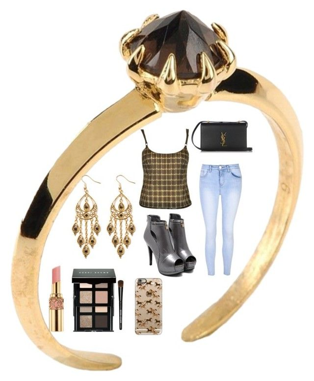 """It's Friday Night"" by klm62 on Polyvore featuring Katie Rowland, Prada, Glamorous, Yves Saint Laurent, Palm Beach Jewelry, Bobbi Brown Cosmetics and Casetify"