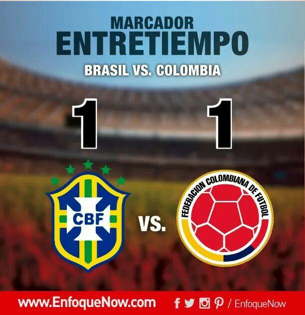 Empate parcial entre Brasil y Colombia con gol de camerino y autogol #Brasil #Colombia #Miranda #Marquinhos #Neymar #JamesRodriguez #Futbol #Eliminatorias #Rusia2018