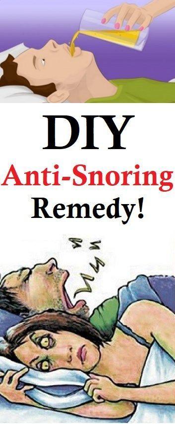 DIY ANTI-SNORING REMEDY! | Snoring remedies, Natural ...