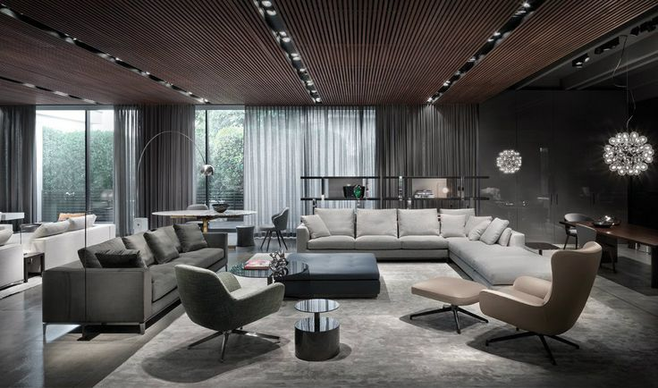 Milan furniture design news introducing new minotti 2015 for Showroom living room ideas