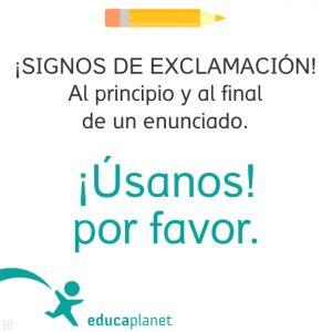 Signos de admiración usos en español ortografía