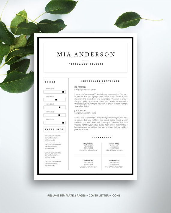 1000  ideas about good resume examples on pinterest