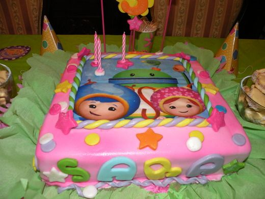 Team Umizoomi Birthday cake that I would love to have for the kids' birthday party