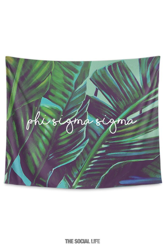 Phi Sigma Sigma Painted Palms Tapestry