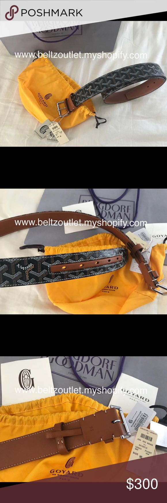 Sale $145 brown monogram Goyard belt Brown monogram Goyard belt. Comes with dust bag and tags. Sizes 90cm-115cm in stock. Best prices and quality guaranteed. Shop with confidence. 100% Satisfaction Guaranteed. Accessories Belts