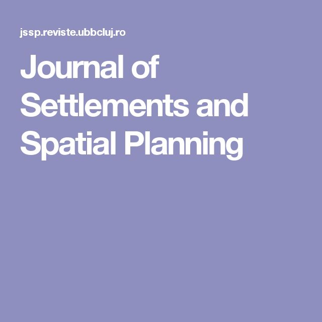 Journal of Settlements and Spatial Planning