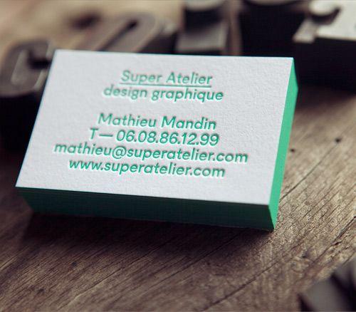 Cartes De Visite Super Atelier Création Impression Recto 1 Couleur Et Boston Styleimpressionbusiness Cardshoneycarte
