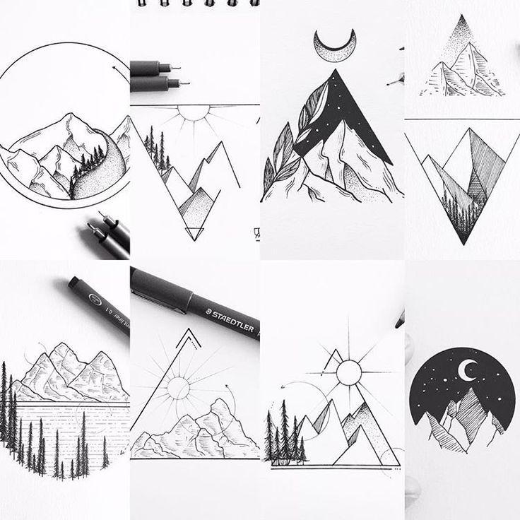 Resultat d'imatges de minimal tattoo alpinism