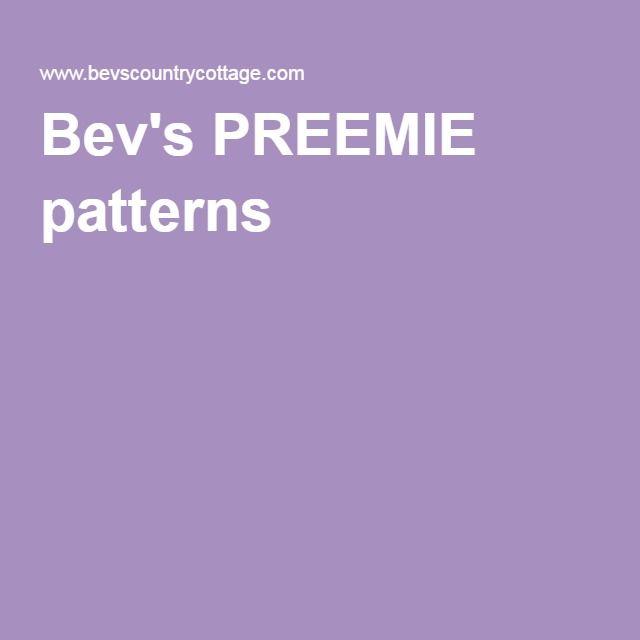 Bev's PREEMIE patterns
