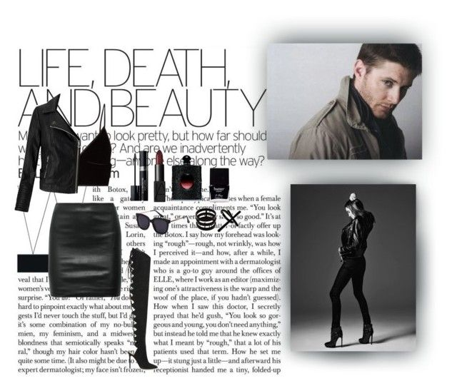 """""""Life, Death, And Beauty"""" by xo-nataliiee-xo on Polyvore featuring T By Alexander Wang, The Row, Miss Selfridge, Alexandre Vauthier, Christian Dior, NARS Cosmetics, Butter London, Yves Saint Laurent, Repossi and Emi Jewellery"""