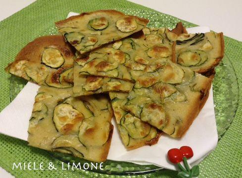 Schiacciatina di zucchine - ricetta facile