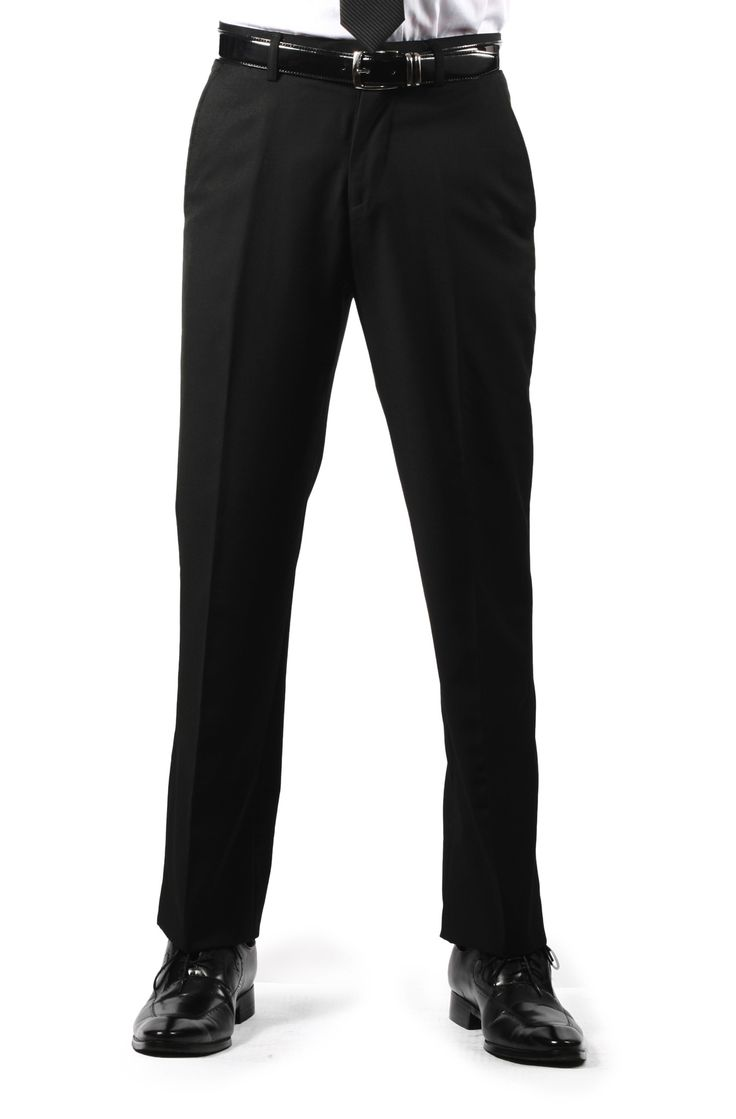 Sophisticated & Modern Ferrecci Premium Black Slim Fit Pants are perfect for any casual or formal occasion. They feature button and hook closure, button through back pockets, and vertical side pockets