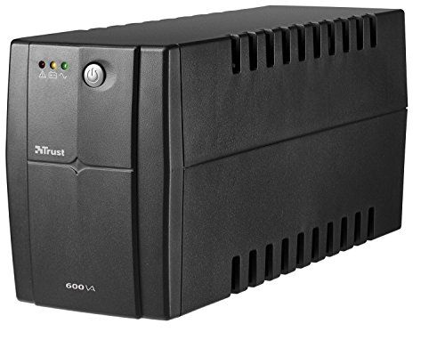 Trust 600 VA UPS Power Supply Compact, reliable 600VA battery back-up UPS with 2 surge protected power outlets (Barcode EAN = 8713439176810). http://www.comparestoreprices.co.uk/january-2017-2/trust-600-va-ups-power-supply.asp