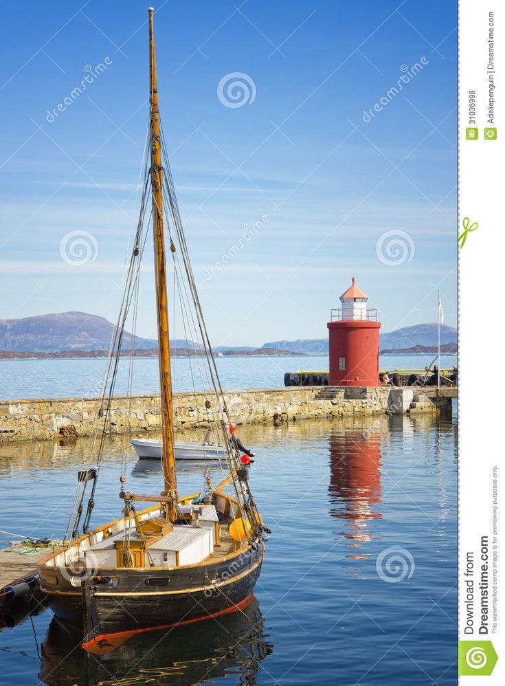 boat harbors   Boat In Harbor, Alesund, Norway Editorial Stock Photo - Image ...