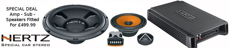 """Hertz Mega Offer - Hertz 12"""" Subwoofer, Sub Box, Hertz 4 Channel Amp,  Hertz 6.5"""" Component Speakers, Audison Connections Wiring Kit - All Fully Fitted for only £499.99 inc VAT Call Us on 01223 368989 to book your vehicle in!"""