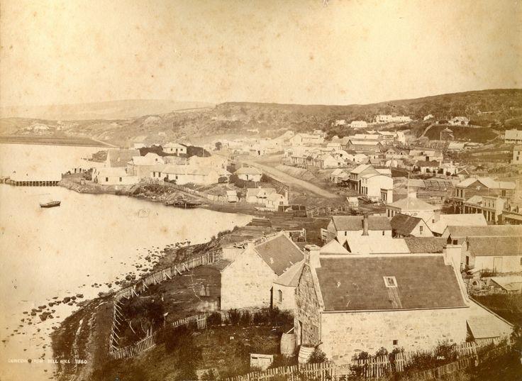 Dunedin from Bell Hill 1860