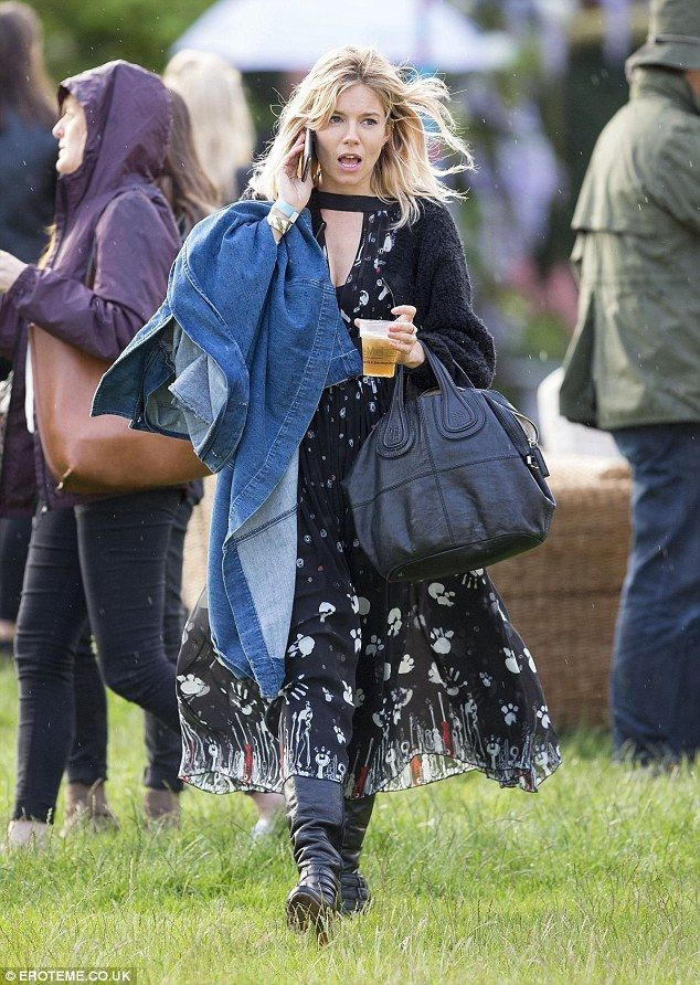 Stepping out: On Saturday actress Sienna Miller rocked her festival best at the British Summer Time Festival in London's Hyde Park