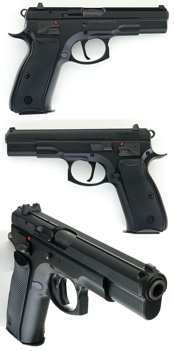 Cz 75 B Sa (Ceská Zbrojovka) Semiauto Pistol 9mm New In The Box Unfired For Sale at GunAuction.com - 10087261