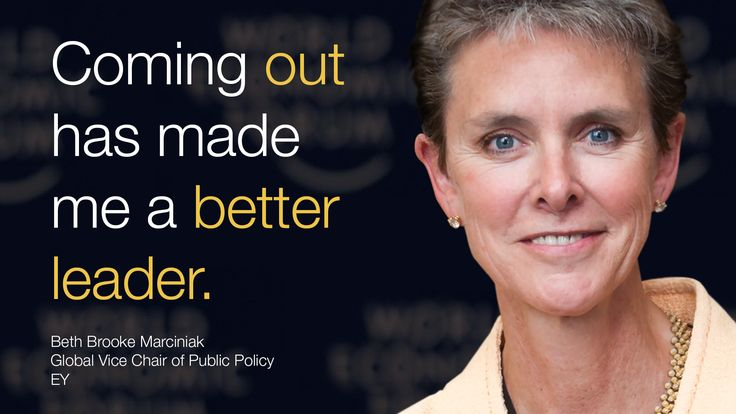 """""""Coming out has made me a better leader."""" said Beth Brooke-Marciniak at #Davos during #wef15 #lgbt"""