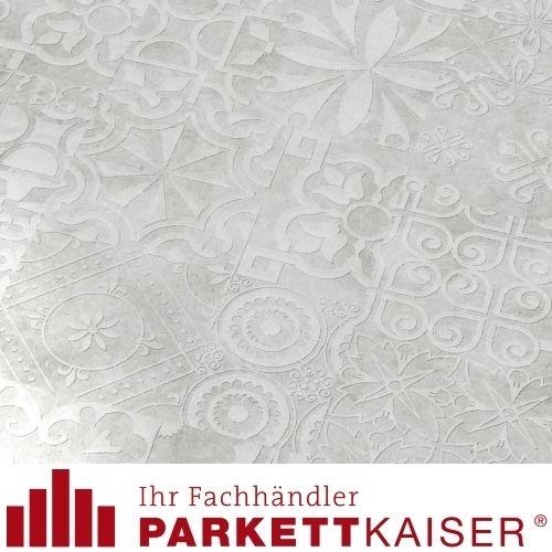 Kaiser Laminat Quadraic Relief White Q006 Supermatt Fließenoptik