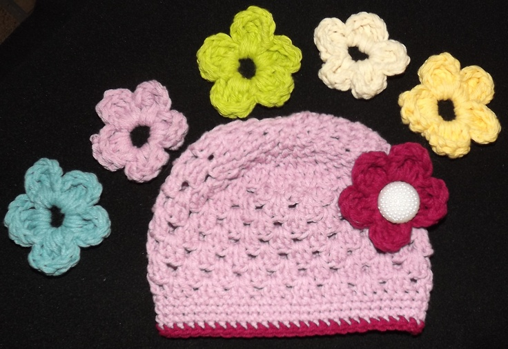 Interchangeable Crochet Flower Pattern : Pin by Marika Robinson on Things Made by me Pinterest
