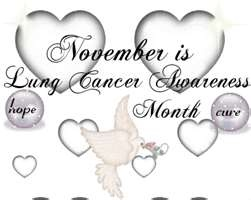 November is Lung Cancer Awareness Month! Let's make people Aware!!