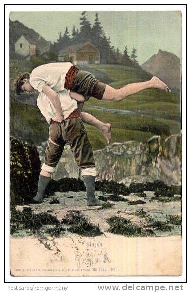 Schwingen or Swiss folk wrestling