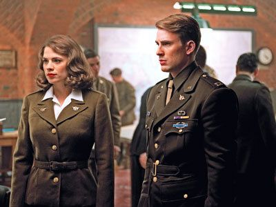 Captain Steve Rogers and Peggy Carter