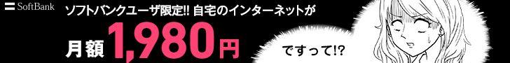 ソフトバンクユーザ限定!! 自宅のインターネットが月額1,980円ですって!?