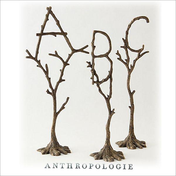 「Mart3月号掲載」【ANTHROPOLOGIE/アンソロポロジー】'tree monogram'イニシャルアクセサリーホルダーアルファベット インテリア【楽ギフ_包装】【春の新生活特集】【楽天市場】