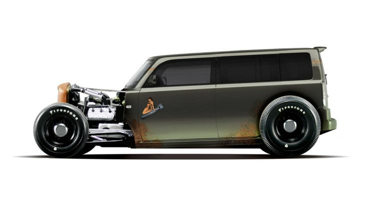 Ideas for my new street rod (More at pinterest.com/gary5mith/ideas-for-my-new-street-rod/)  - Scion xB rat rod - awesome! If this is photoshopped, someone needs to build it!