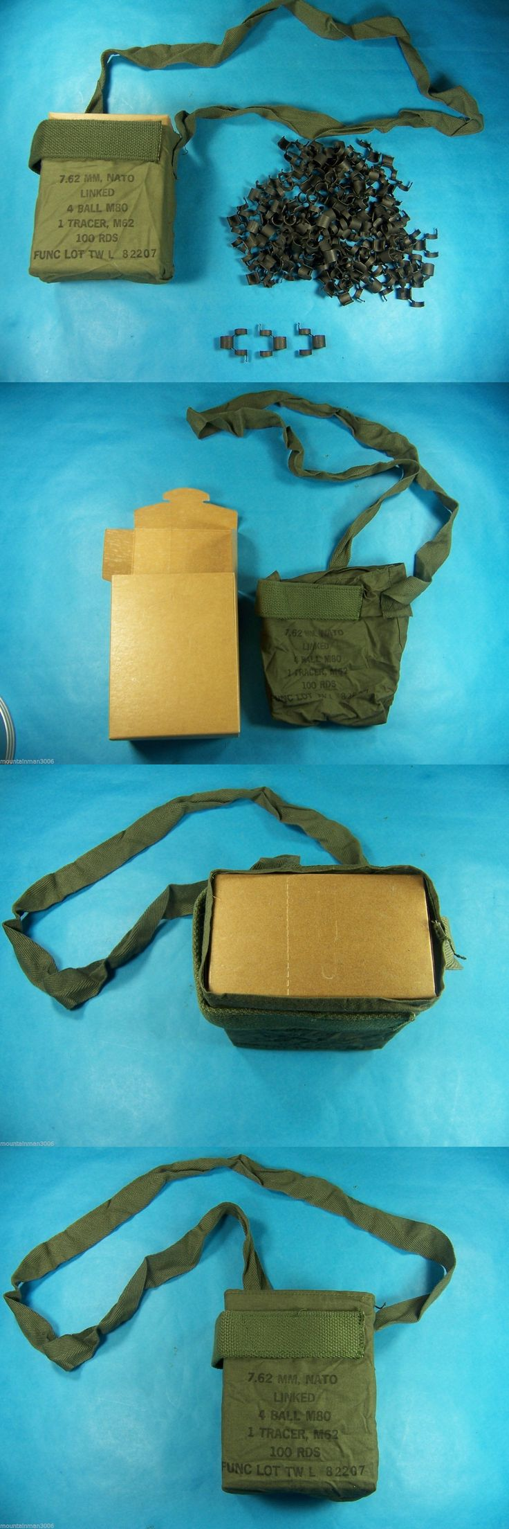 Ammunition Belts and Bandoliers 177884: Us Military M60 Bandolier, Cardboard Box 7.62Mm Nato Linked Belt Repack Kit -> BUY IT NOW ONLY: $30.95 on eBay!