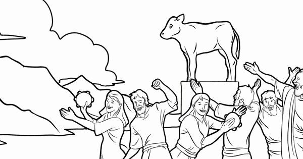 28 Golden Calf Coloring Page In 2020 Coloring Pages Golden Calf