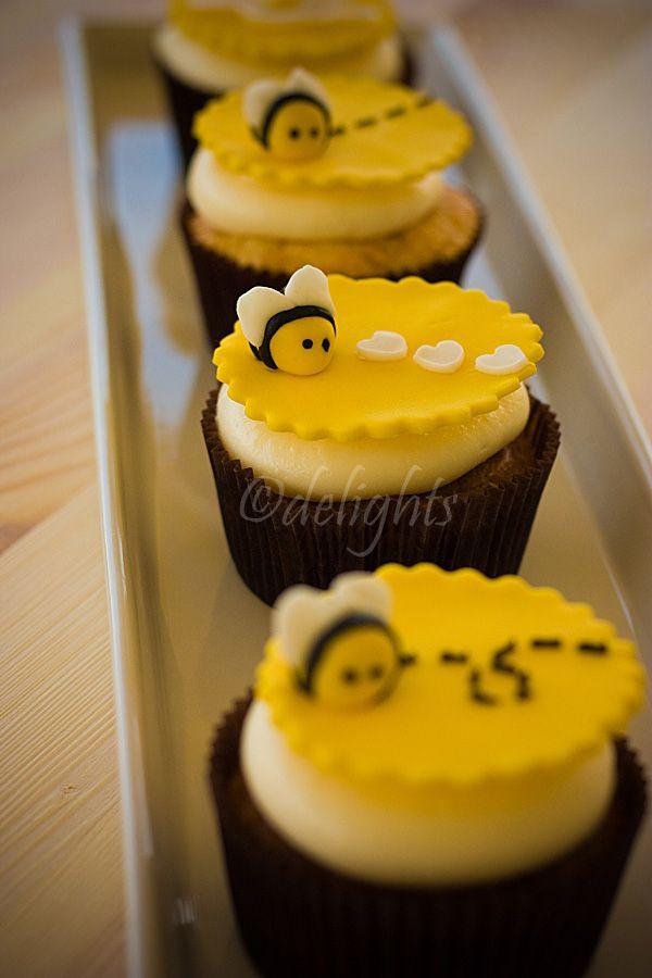 Bees and Lemon #cupcakes #bees
