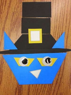 Pilgrim Pete {A Shape Activity for Pete the Cat: The First Thanksgiving} http://www.teacherspayteachers.com/Product/Pete-the-Cat-The-First-Thanksgiving-Shape-Activity-1552718