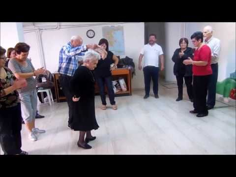 86 years old lady is dancing a traditional dance. ΚΑΠΗ ΠΑΤΡΑΣ