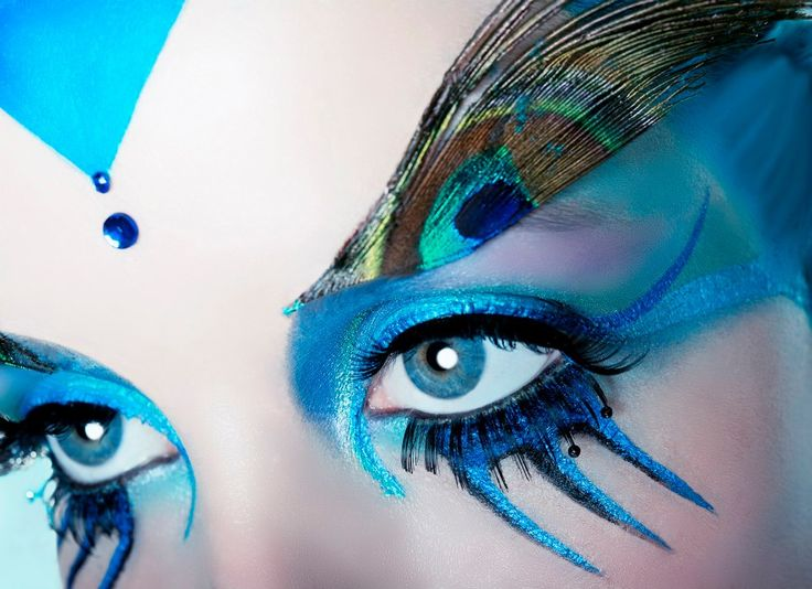 Peacock theme make up