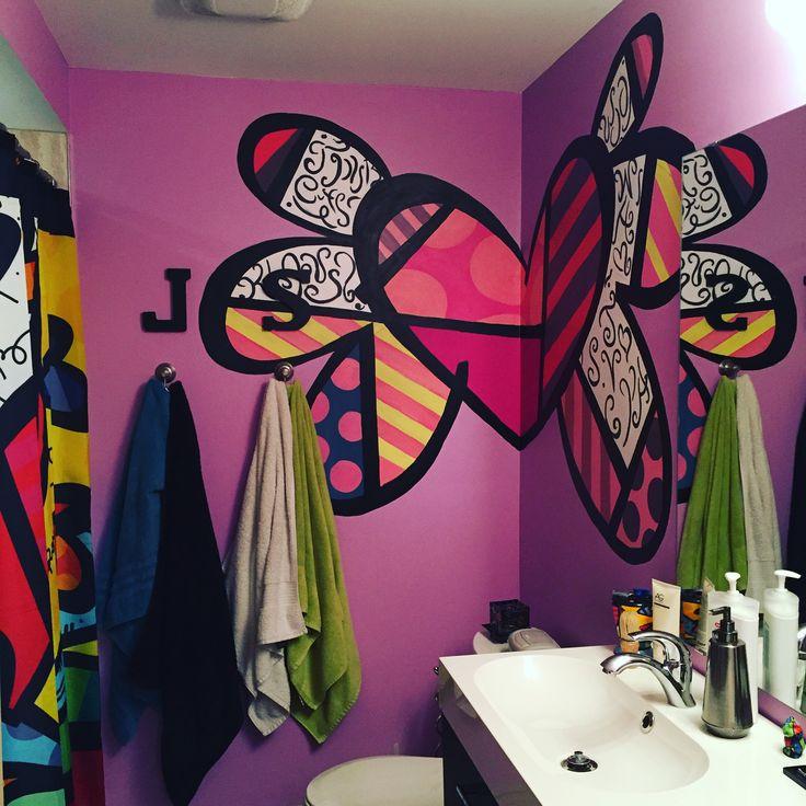 Our bathroom 'Britto' mural