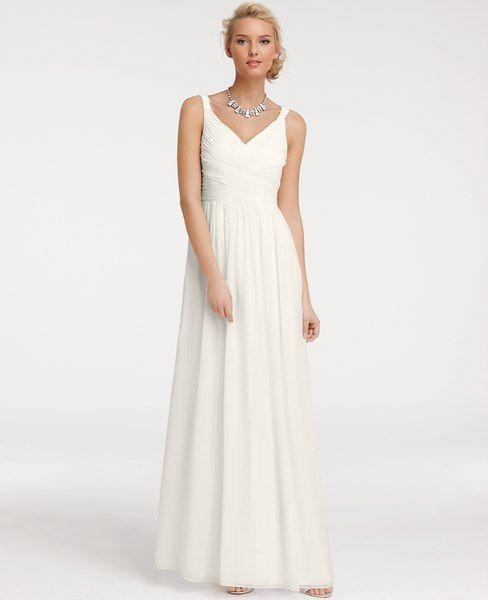 Ann Taylor - AT Wedding Dresses - Silk Georgette V-Neck Gown